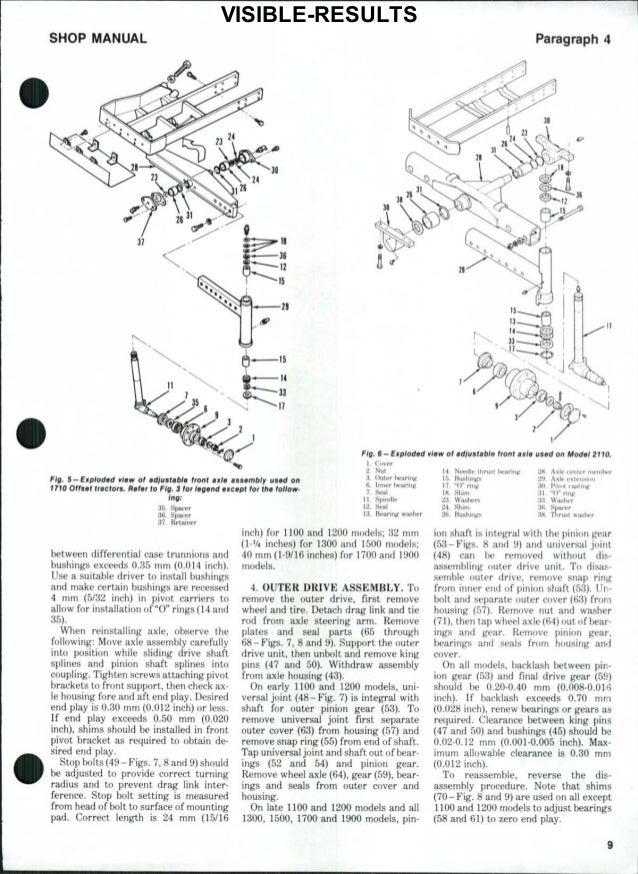 Ford 1310 Tractor Service Repair Manual