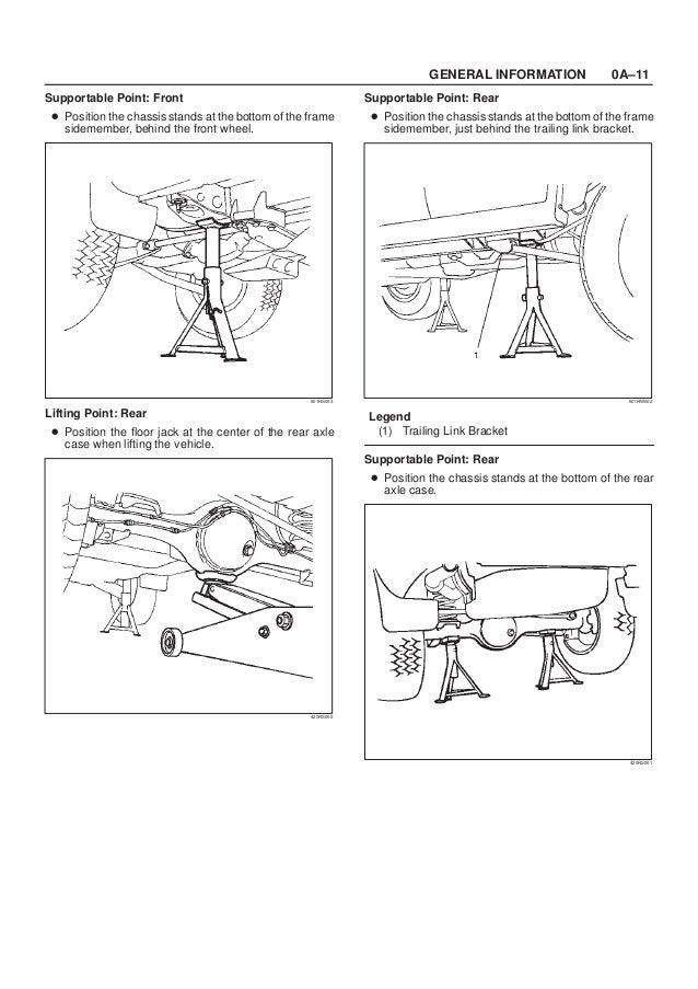 1999 ISUZU TROOPER RODEO AMIGO VEHICROSS AXIOM Service Repair Manual