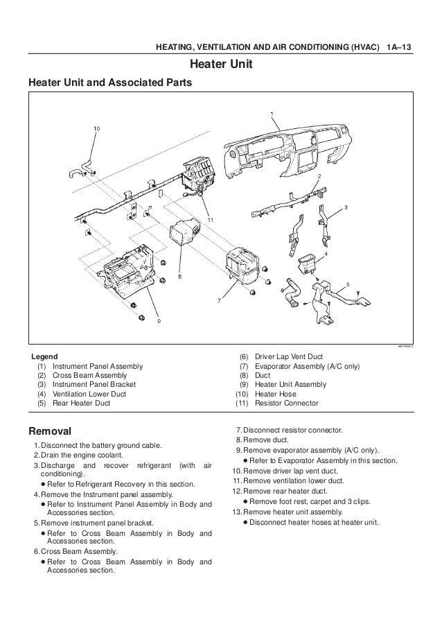 1999 ISUZU TROOPER RODEO AMIGO VEHICROSS AXIOM Service