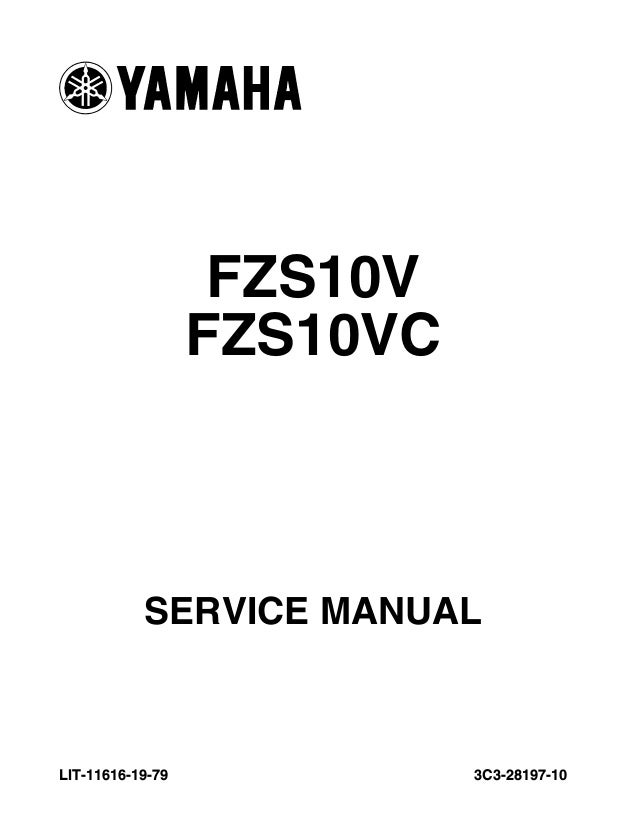 2009 Yamaha FZ1 FZS1000 Service Repair Manual
