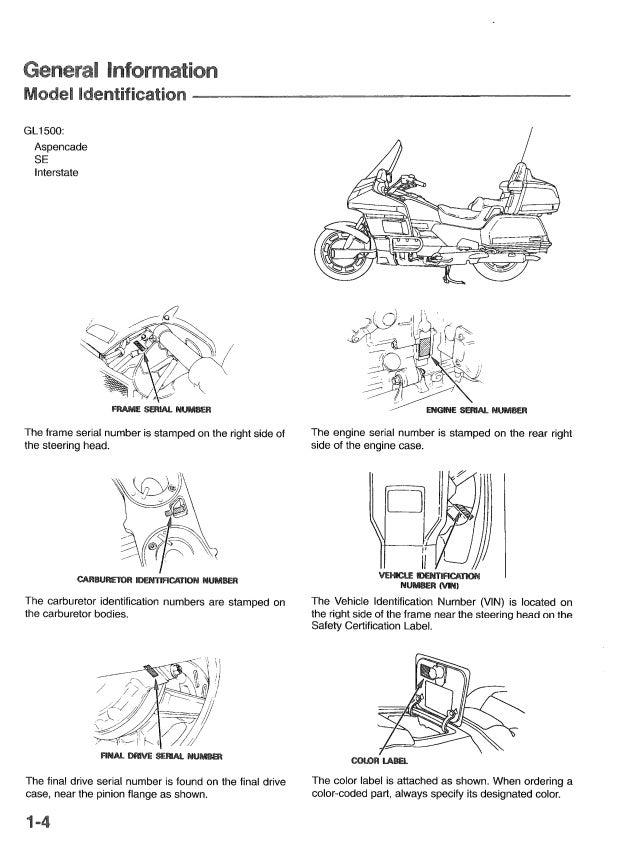1994 honda goldwing gl1500 service repair manual Honda Wiring Diagram 1984