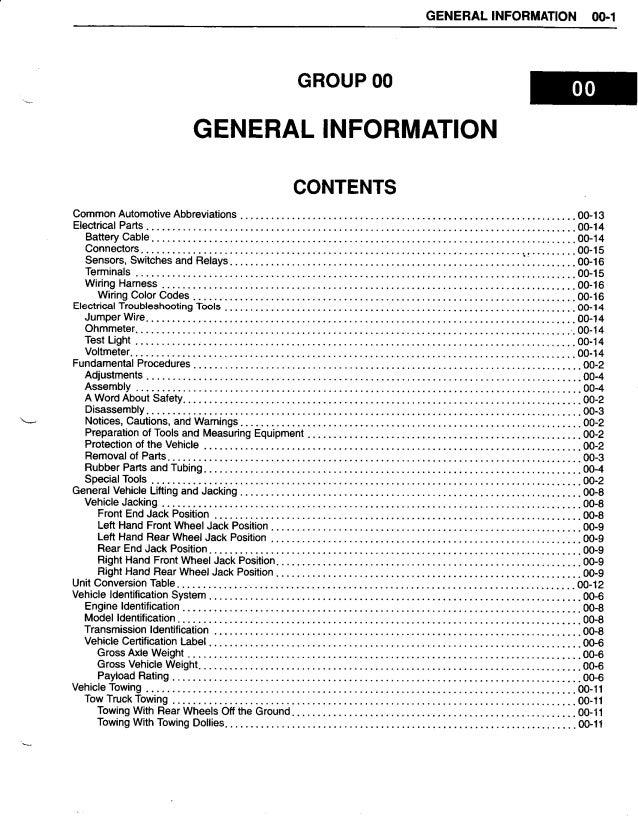 1998 Kia Sportage Service Repair Manual