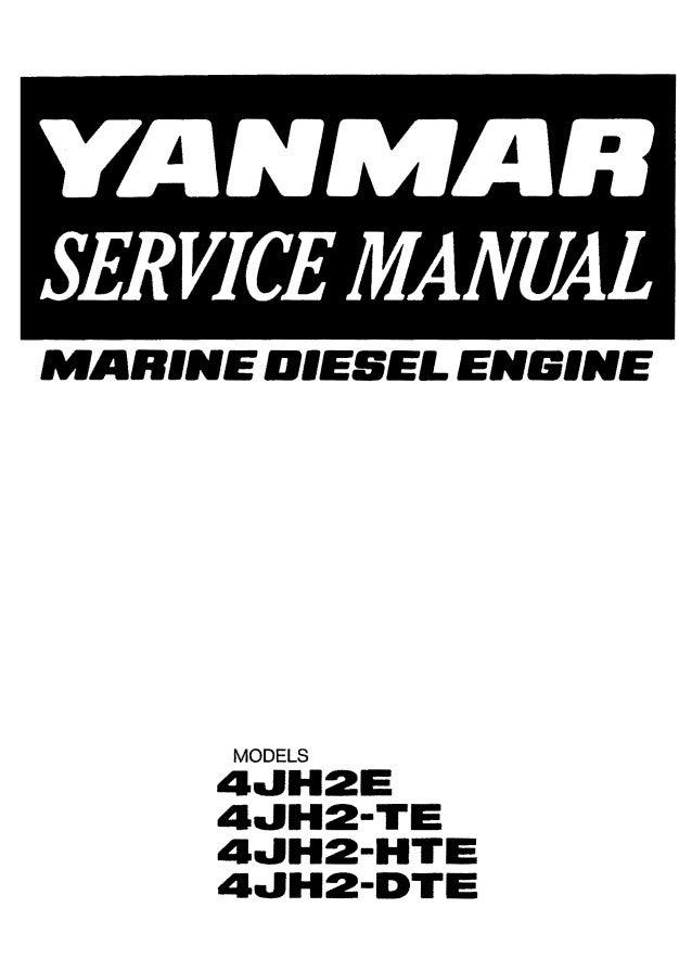 Yanmar 4JH2-HTE Marine Diesel Engine Service Repair Manual