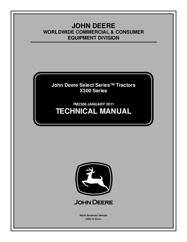 john deere x304 lawn tractor service repair manual rh slideshare net john deere maintenance manuals john deere maintenance manual j35