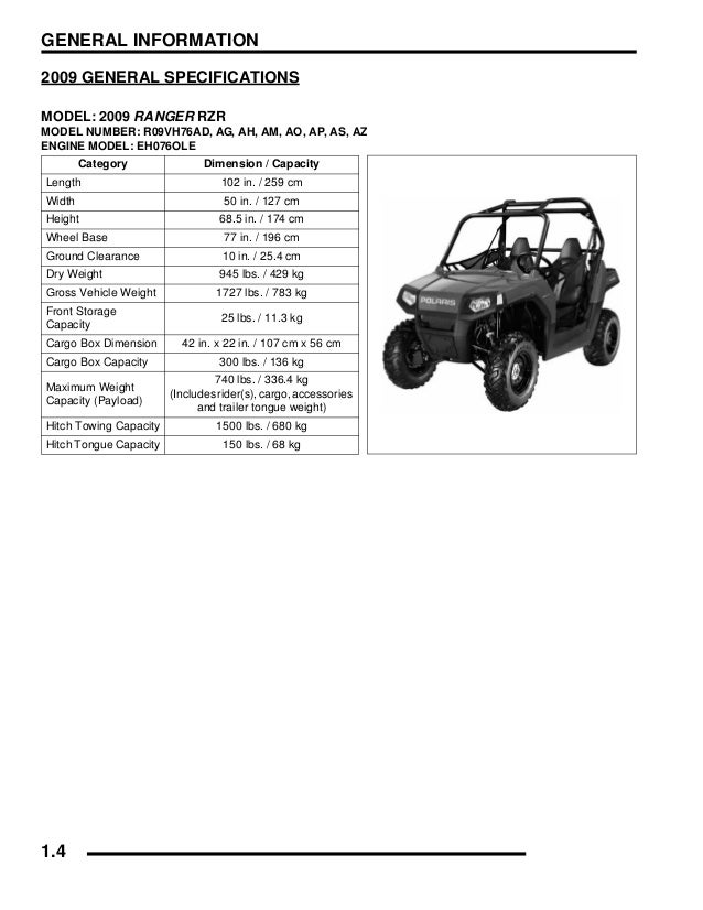 2010 POLARIS RANGER RZR S 800 Service Repair Manual