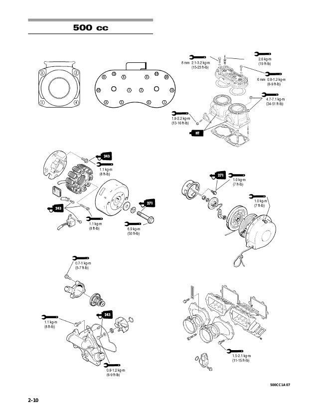 2007 Artic Cat 1000cc 2-Stroke Snowmobile Service Repair