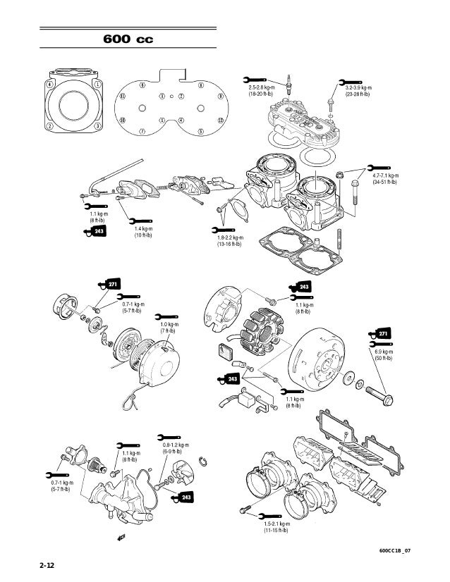 2007 Artic Cat 1000cc 2 Stroke Snowmobile Service Repair Manual