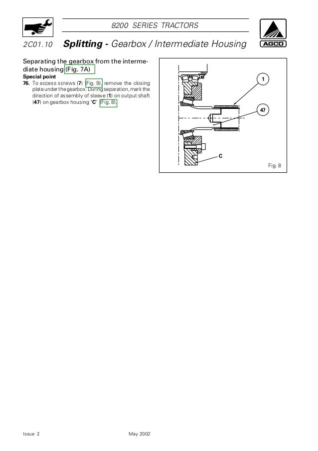 Massey Ferguson MF 8240 Xtra Tractor Service Repair Manual