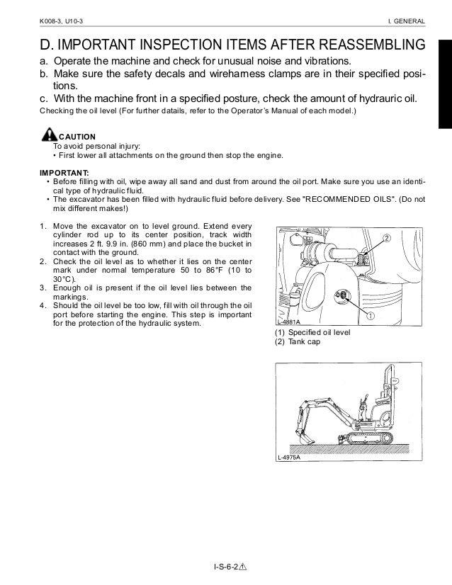 Kubota K0083 Micro Excavator Service Repair Manual