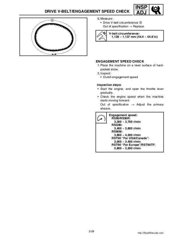 yamaha rs vector rs venture rs90 snowmobile complete workshop repair manual 2012 2013