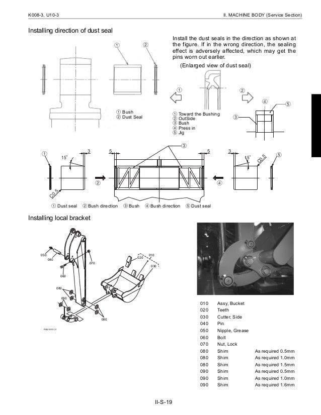 KUBOTA K008-3 MICRO EXCAVATOR Service Repair Manual