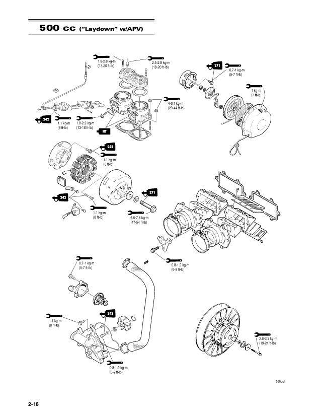 "2-16 500 cc (""laydown"" w/apv)"