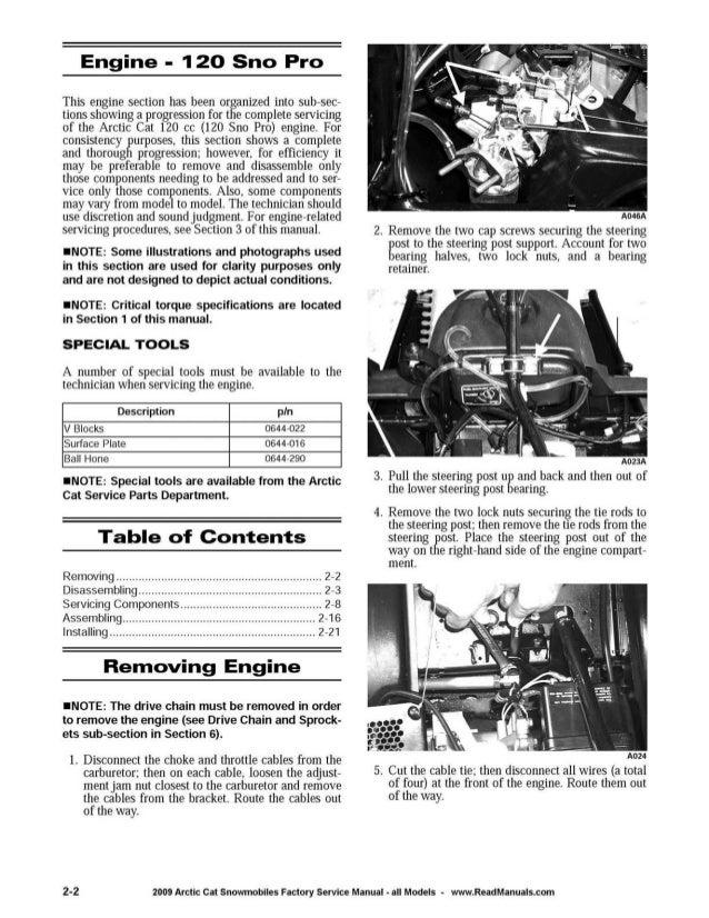 Arctic Cat F Engine Torque Specs