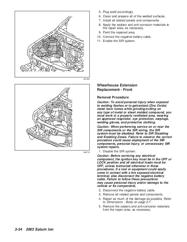 2003 SATURN ION Service Repair Manual