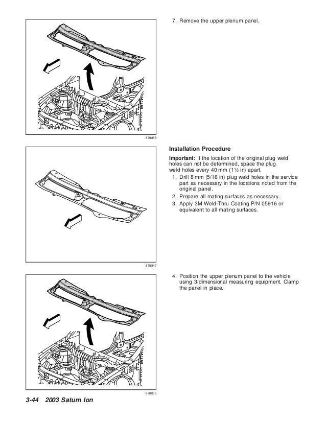 2004 SATURN ION Service Repair Manual