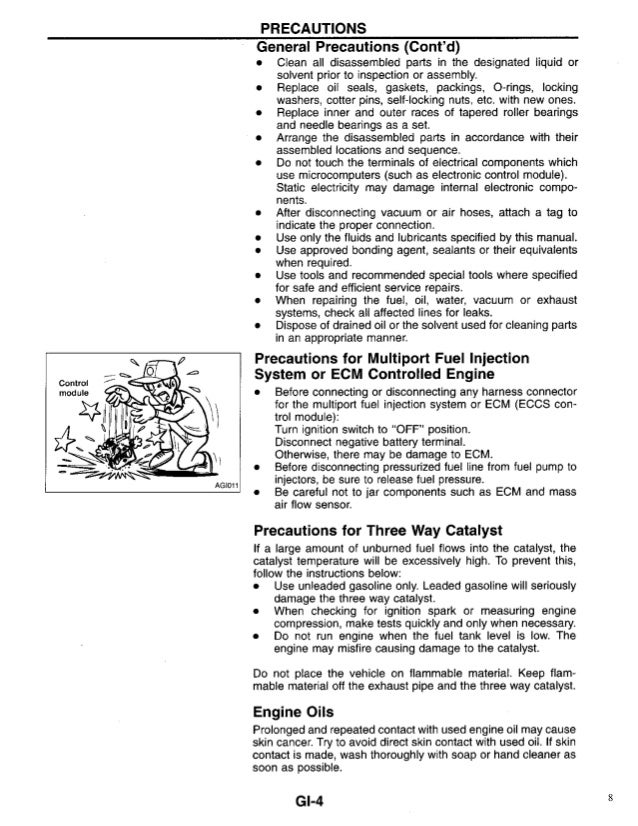 1996 Nissan Sentra Service Repair Manual