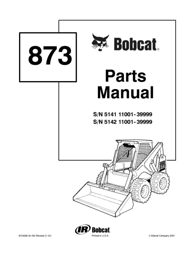 Bobcat 873 F Series Skid Steer Loader Parts Catalogue