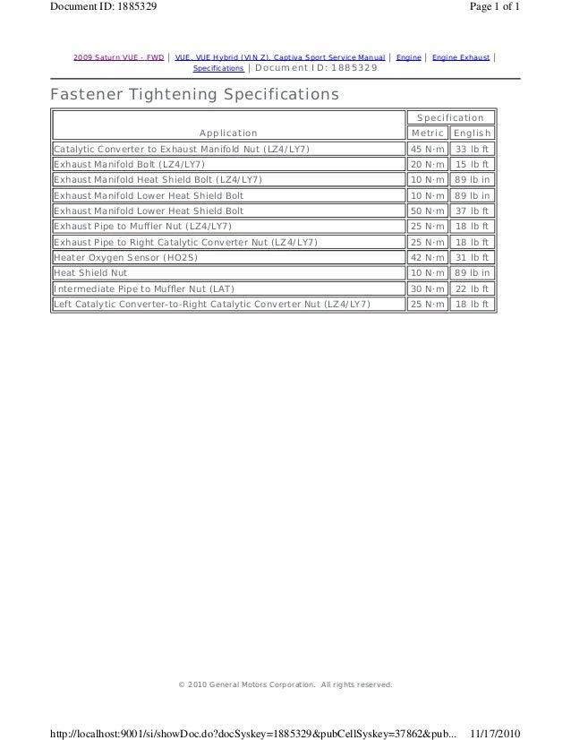2010 saturn vue service repair manual rh slideshare net 2017 Saturn Vue 2015 Saturn Vue