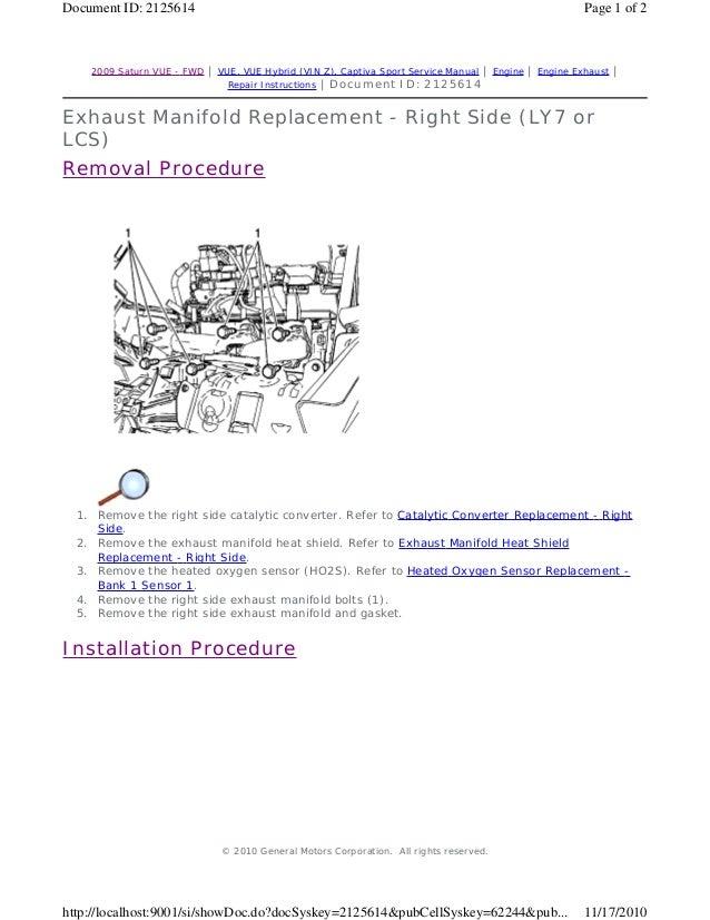2010 saturn vue service repair manual rh slideshare net 2010 staturn vue owners manual 2013 Saturn Vue