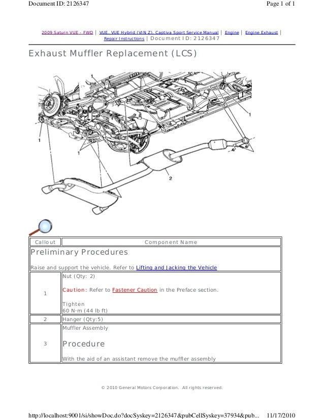 2010 saturn vue service repair manual rh slideshare net 2009 Saturn Vue 2012 Saturn Vue