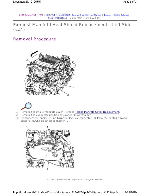 2010 SATURN VUE Service Repair Manual