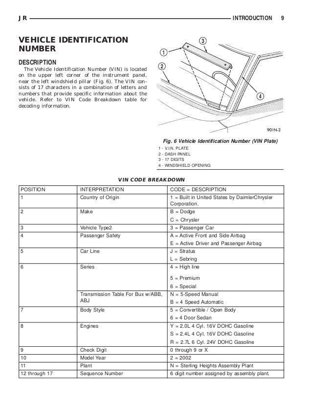 2002 dodge stratus repair manual free