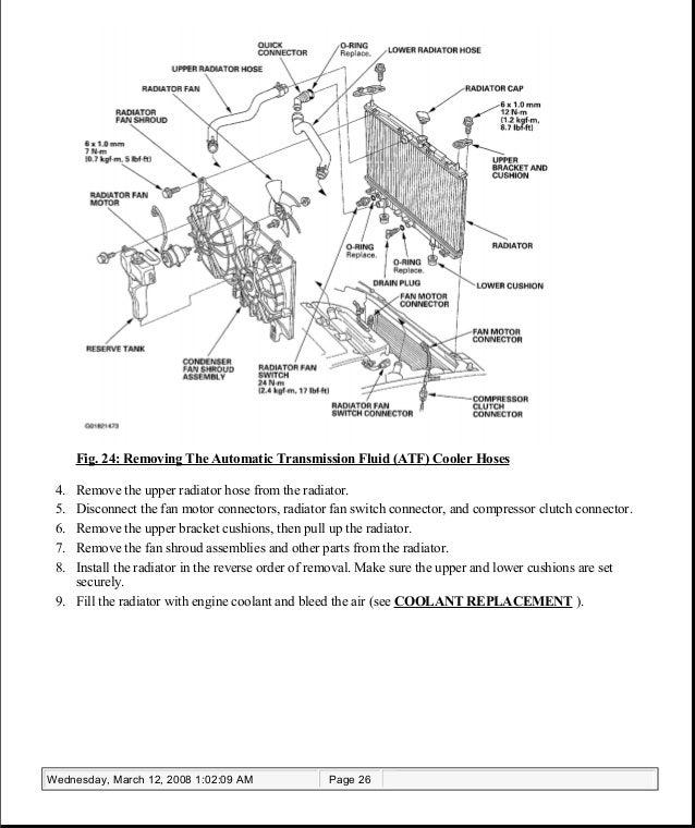 ACURA TSX Service Repair Manual - Acura tsx radiator