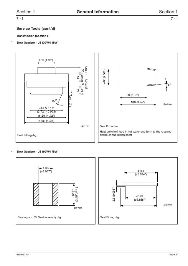 Jcb Js160w Wheeled Excavator Service Repair Manual Sn