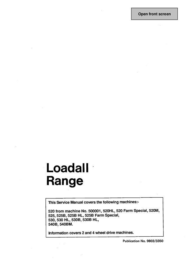 jcb 530b 2 530b 4 telescopic handler service repair manual rh slideshare net Printable John Deere Manuals Printable John Deere Manuals