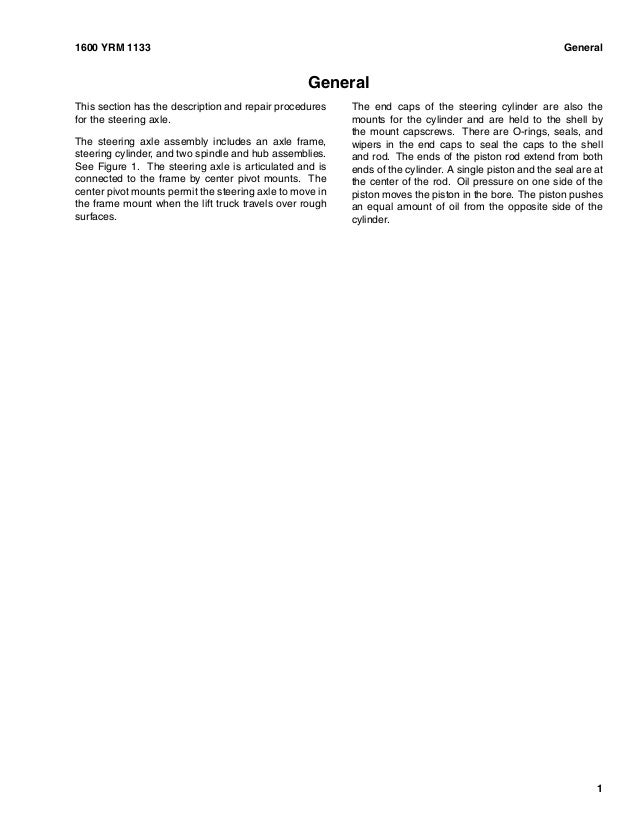 Yale Glc080 service Manual