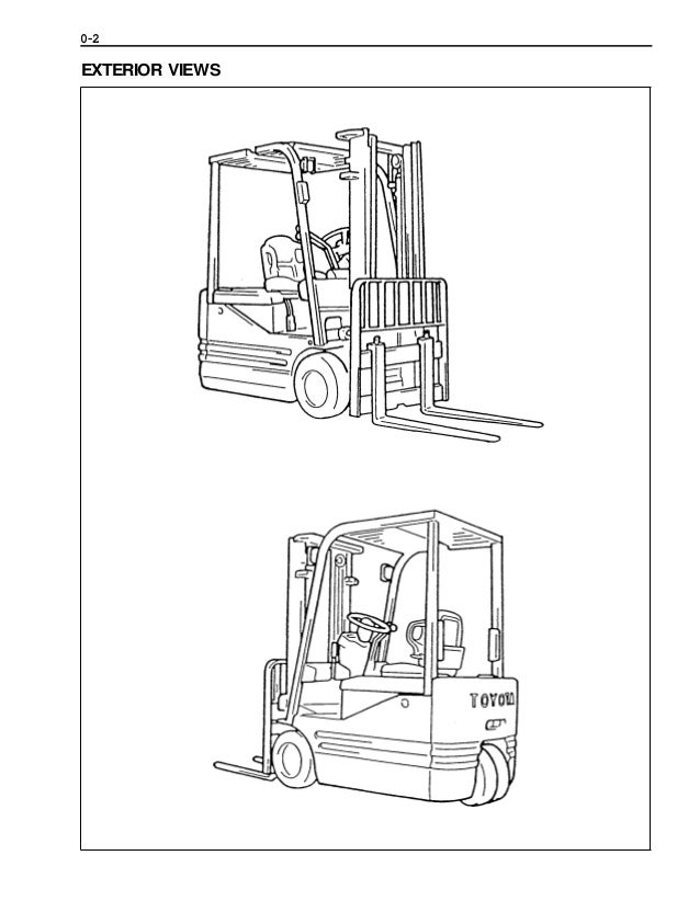 Toyota 5FBE20 Forklift Service Repair Manual