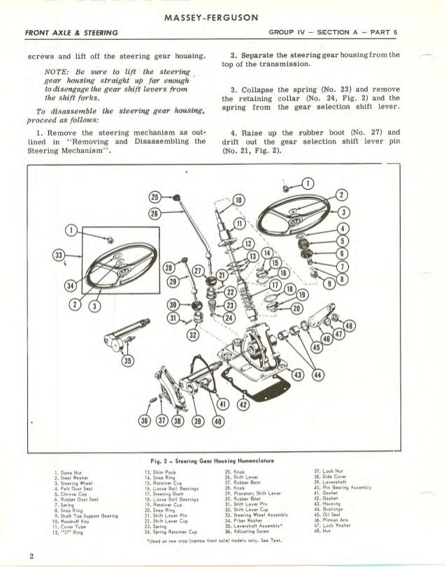 Massey Ferguson MF65 Tractor Service Repair Manual