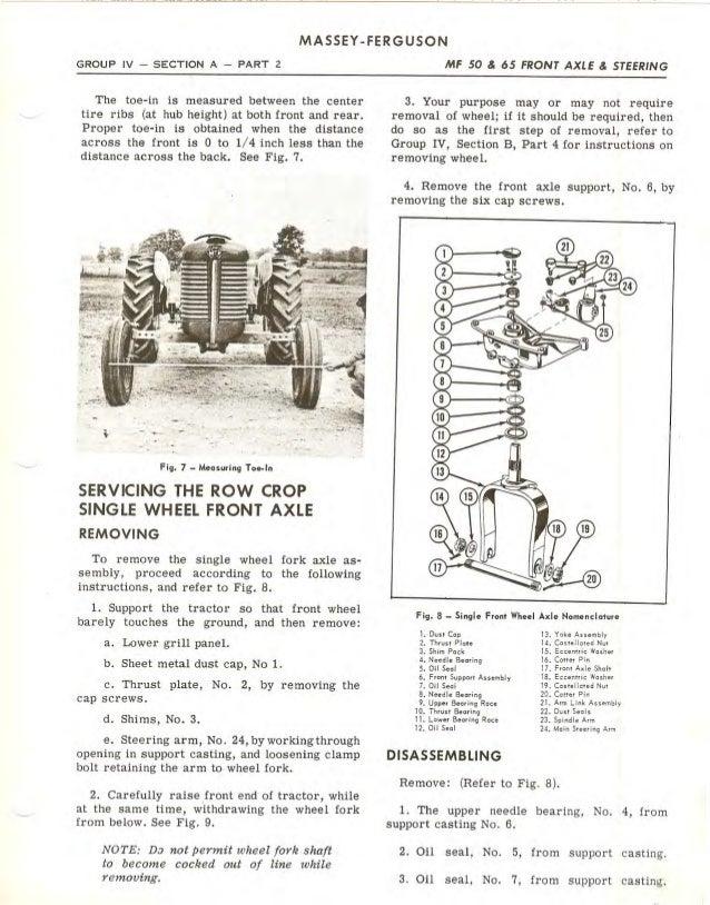 Upper Steering Column Spring Seal Seat Kit for Massey Ferguson TO35 Tractor