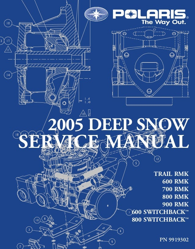 polaris snowmobile 2005 touring trail service manual