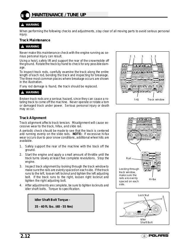 2002 Polaris 700 XC SP SNOWMOBILE Service Repair Manual
