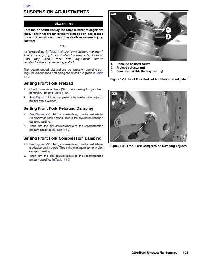 2006 BUELL XB12X ULYSSES Service Repair Manual