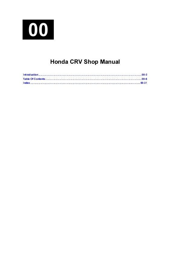 2006 crv service manual pdf