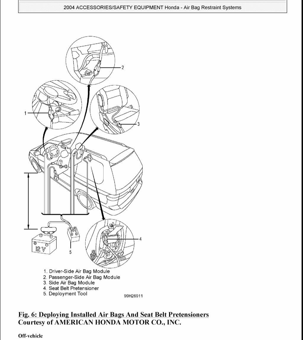 2004 HONDA ODYSSEY Service Repair Manual