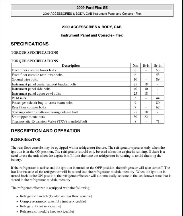 2010 ford flex service repair manual rh slideshare net 2012 Ford Flex 2012 Ford Flex