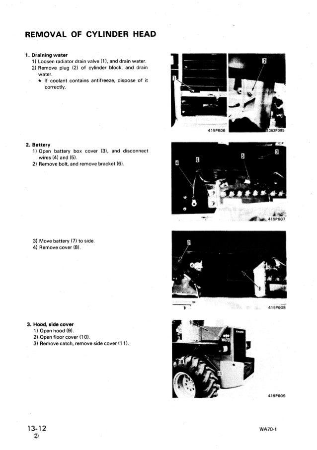 KOMATSU WA70-1 WHEEL LOADER Service Repair Manual