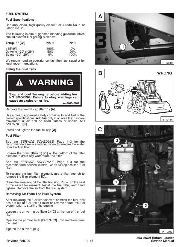 BOBCAT 863 SKID STEER LOADER Service Repair Manual S/N 514525001 & Ab…