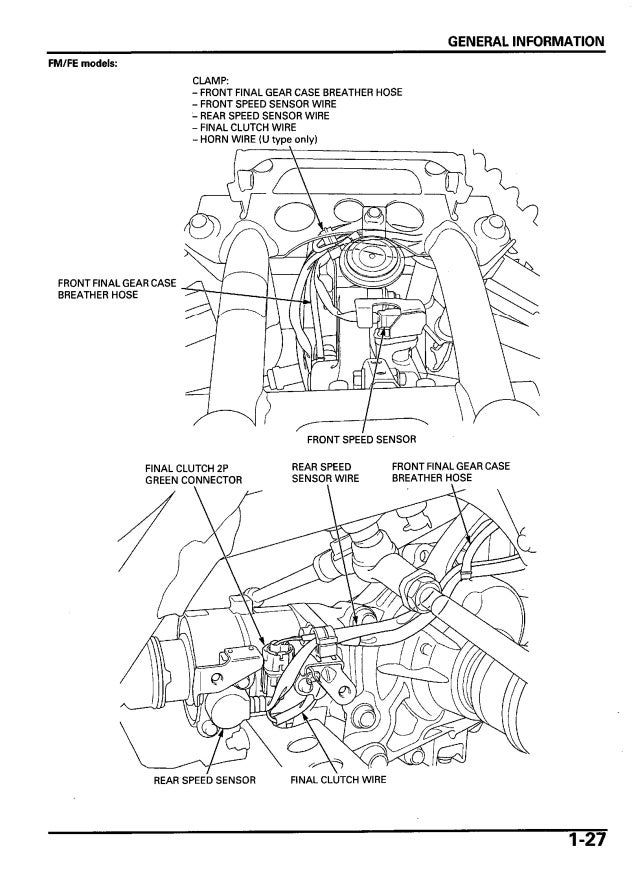 2005 Honda TRX500TM FourTrax Foreman Service Repair Manual