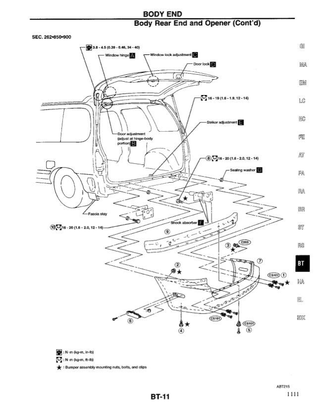 NISSAN QUEST 1998 Service Repair Manual