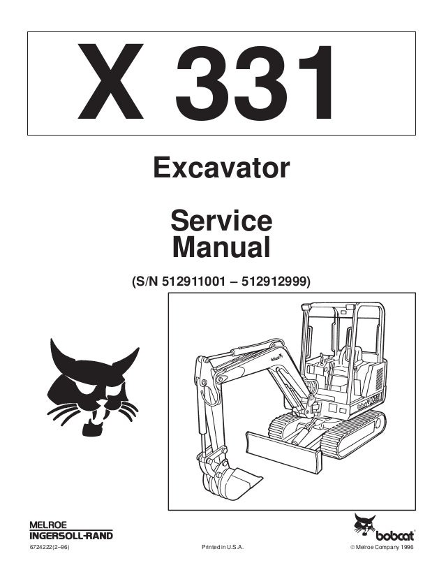BOBCAT 331 COMPACT EXCAVATOR Service Repair Manual