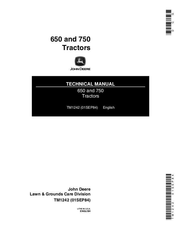 John Deere 750 Tractor Service Repair Manual. 650 And 750 Tractors Technical Manual Tm1242 01sep84 English John. John Deere. 750 John Deere Schematics At Scoala.co