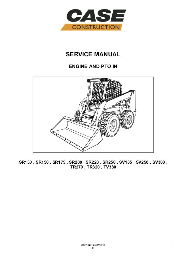 CASE SR250 SKID STEER LOADER Service Repair Manual