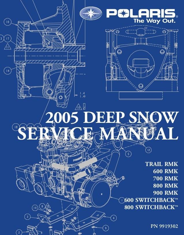 2005 Polaris 800 Rmk 159 Snowmobile Service Repair Manual