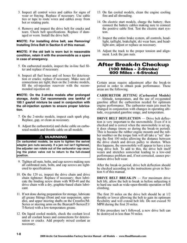 2009 Arctic Cat Crossfire 8 Sno Pro 141