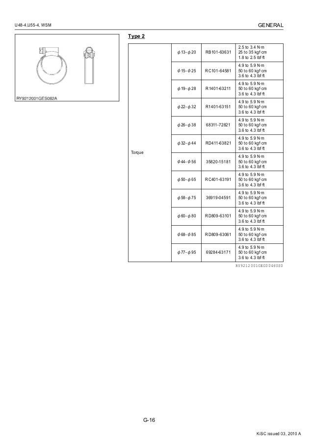KUBOTA U48-4 EXCAVATOR Service Repair Manual