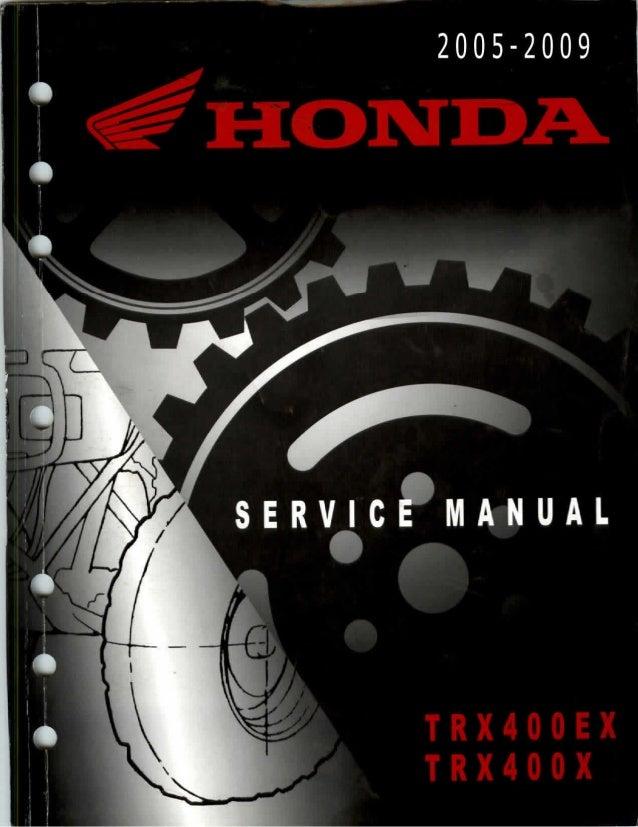 2005 Honda Trx400ex Sportrax Service Repair Manual